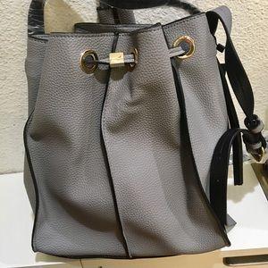 Zara Bags - Zara grey monochrome bucket bag